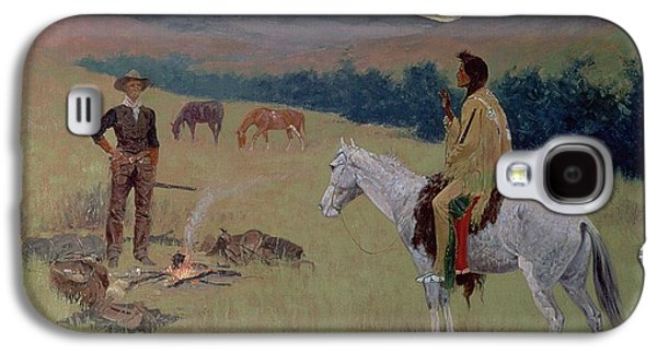 The Conversation Galaxy S4 Case by Frederic Remington