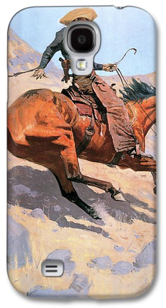 The Cowboy Galaxy S4 Case by Frederic Remington