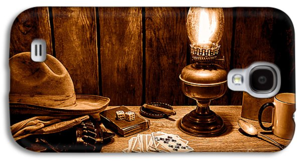 The Cowboy Nightstand - Sepia Galaxy S4 Case by Olivier Le Queinec