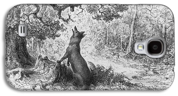 The Crow And The Fox Galaxy S4 Case by Gustave Dore
