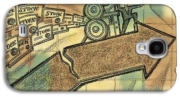 The Danger Of Stock Market Galaxy S4 Case by Leon Zernitsky