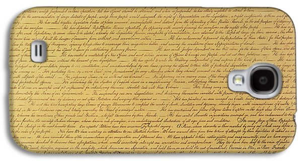 The Declaration Of Independence Galaxy S4 Case