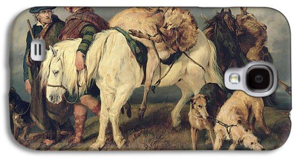 Scotland Galaxy S4 Case - The Deerstalkers Return by Sir Edwin Landseer