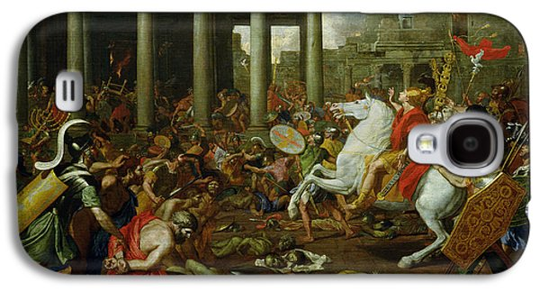 The Destruction Of The Temples In Jerusalem By Titus Galaxy S4 Case by Nicolas Poussin