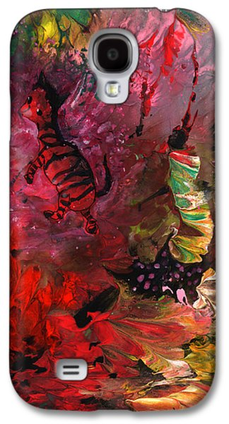 The Dream Of A Red Zebra In Africa Galaxy S4 Case by Miki De Goodaboom