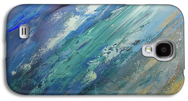 Silver Turquoise Galaxy S4 Case - The Dry Land Was Called Earth by Laurie Hein
