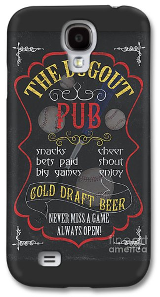 Baseball Bats Galaxy S4 Case - The Dugout Pub by Debbie DeWitt