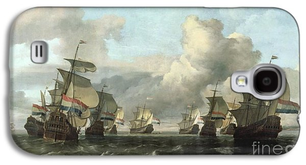 The Dutch Fleet Of The India Company Galaxy S4 Case by Ludolf Backhuysen