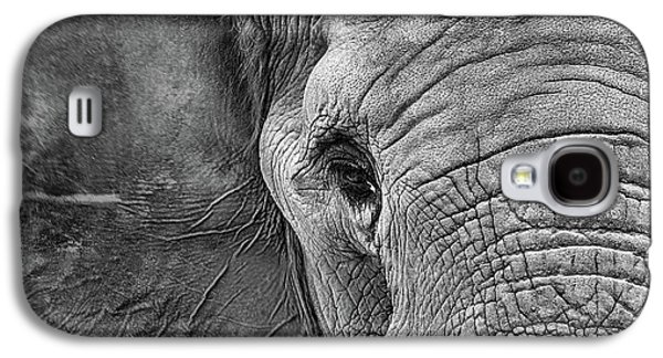 The Elephant In Black And White Galaxy S4 Case by JC Findley