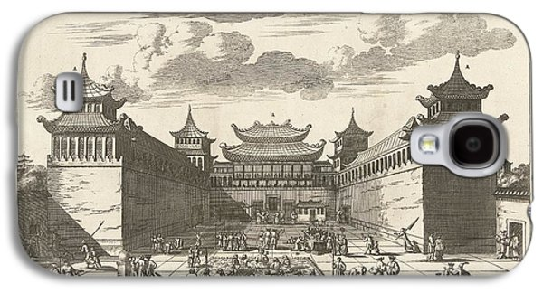 The Emperor Of China Takes The Palace Received The Gifts From The Dutch, In 1667, Anonymous, 1668-16 Galaxy S4 Case