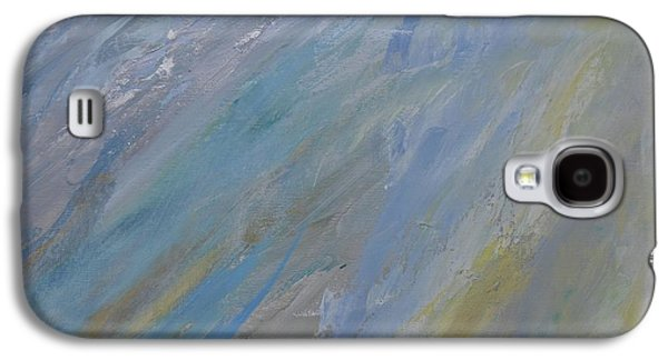 Silver Turquoise Galaxy S4 Case - The Evening And The Morning  by Laurie Hein