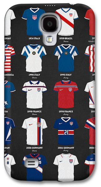 The Evolution Of The Us World Cup Soccer Jersey Galaxy S4 Case by Taylan Apukovska