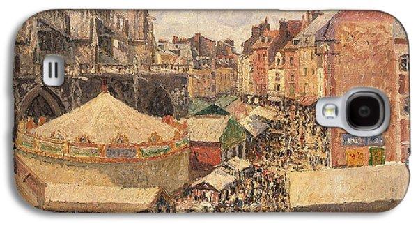 The Fair In Dieppe Galaxy S4 Case by Camille Pissarro