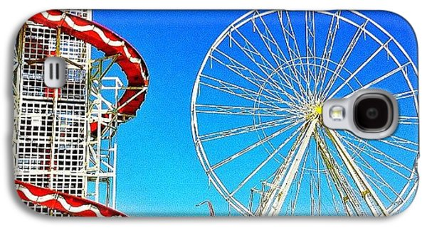 Blue Galaxy S4 Case - The Fair On Blacheath by Samuel Gunnell