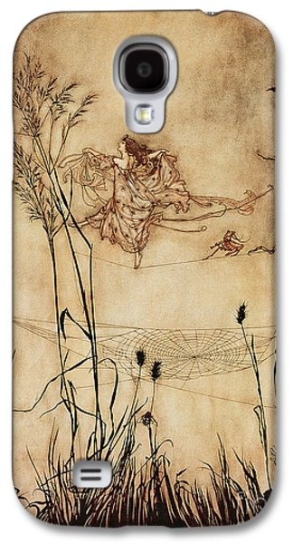 The Fairy's Tightrope From Peter Pan In Kensington Gardens Galaxy S4 Case by Arthur Rackham