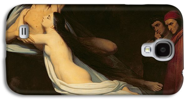 The Figures Of Francesca Da Rimini And Paolo Da Verrucchio Appear To Dante And Virgil Galaxy S4 Case by Ary Scheffer