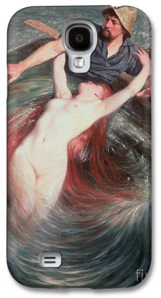 The Fisherman And The Siren Galaxy S4 Case by Knut Ekvall
