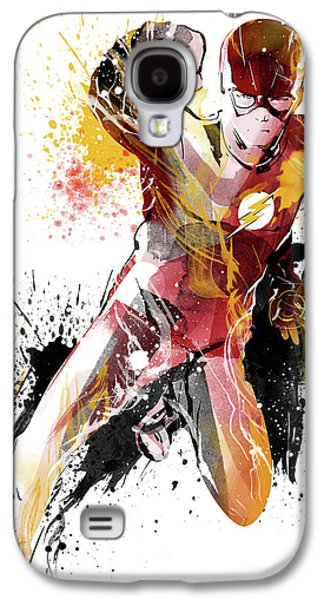 The Flash Galaxy S4 Case by Unique Drawing