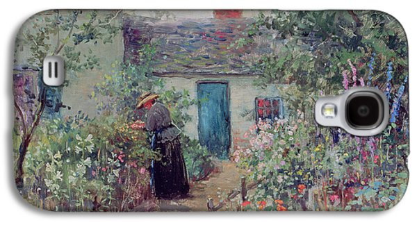 Pathway Paintings Galaxy S4 Cases - The Flower Garden Galaxy S4 Case by Abbott Fuller Graves