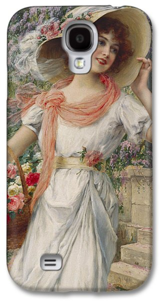 The Flower Girl Galaxy S4 Case by Emile Vernon