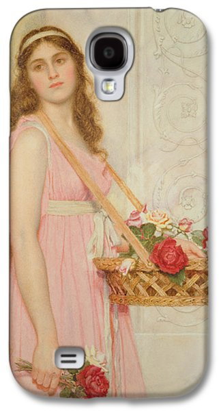 The Flower Seller Galaxy S4 Case by George Lawrence Bulleid