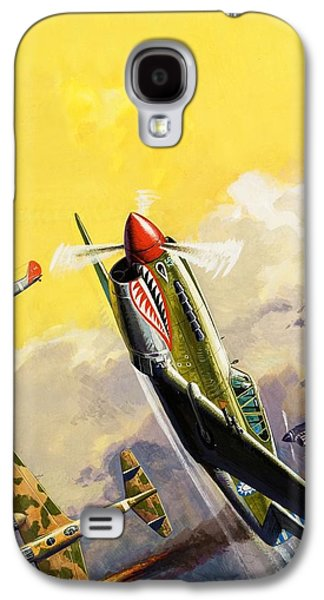 The Flying Tigers During The Spanish Civil War Galaxy S4 Case by Severino Baraldi