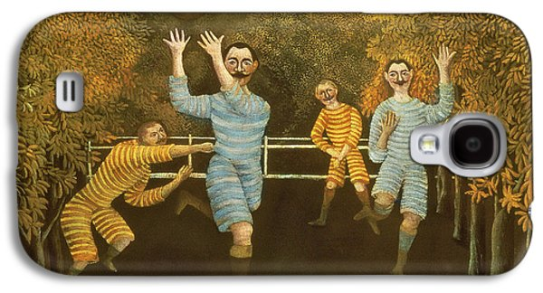 The Football Players Galaxy S4 Case by Henri Rousseau