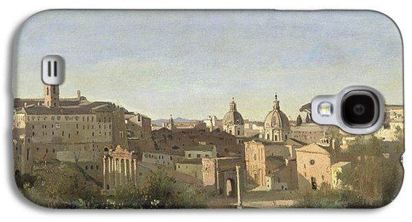 The Forum Seen From The Farnese Gardens Galaxy S4 Case by Jean Baptiste Camille Corot