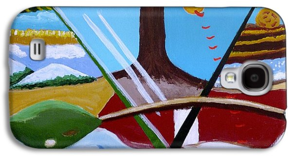 Galaxy S4 Case featuring the painting The Four Seasons by Rod Ismay