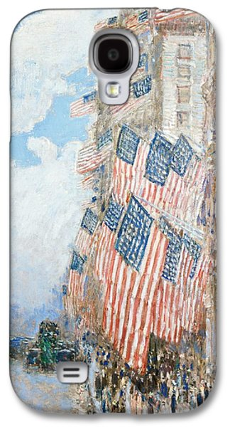The Fourth Of July Galaxy S4 Case by Childe Hassam