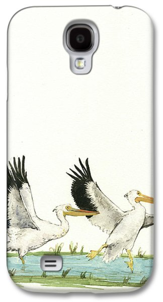 The Fox And The Pelicans Galaxy S4 Case by Juan Bosco
