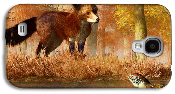 The Fox And The Turtle Galaxy S4 Case by Daniel Eskridge