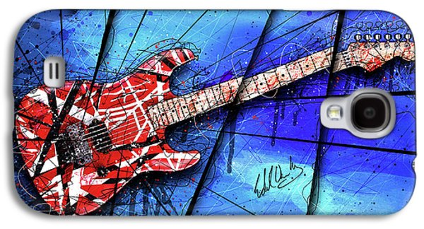 Van Halen Galaxy S4 Case - The Frankenstrat On Blue I by Gary Bodnar