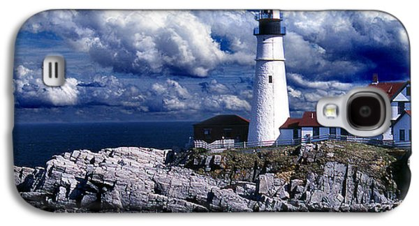 Maine Lighthouses Galaxy S4 Cases - The Front At Portland Head Galaxy S4 Case by Skip Willits