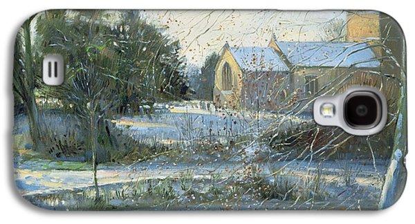 The Frozen Moat - Bedfield Galaxy S4 Case by Timothy Easton