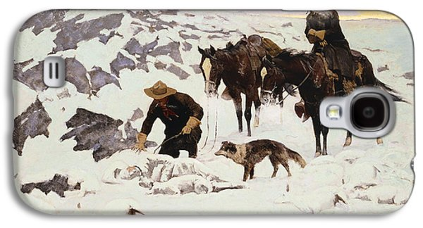 The Frozen Sheepherder Galaxy S4 Case by Frederic Remington