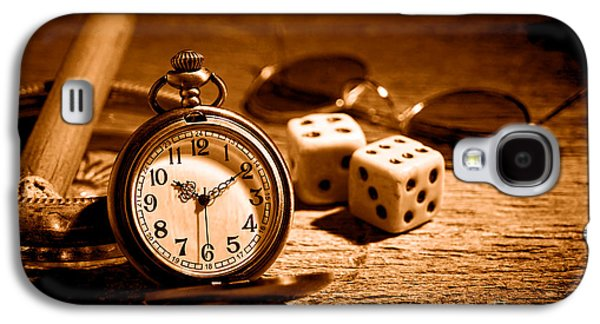 The Gambler's Watch - Sepia Galaxy S4 Case by Olivier Le Queinec