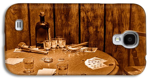 The Gambling Table - Sepia Galaxy S4 Case by Olivier Le Queinec