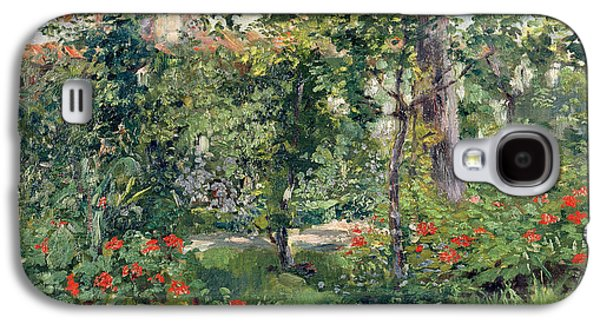 The Garden At Bellevue Galaxy S4 Case by Edouard Manet