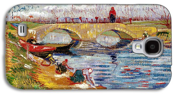 The Gleize Bridge Over The Vigneyret Canal  Galaxy S4 Case by Vincent van Gogh