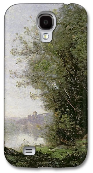 The Goatherd Beside The Water  Galaxy S4 Case by Jean Baptiste Camille Corot