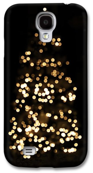 The Golden Glow Of A Christmas Tree Galaxy S4 Case by Rona Black