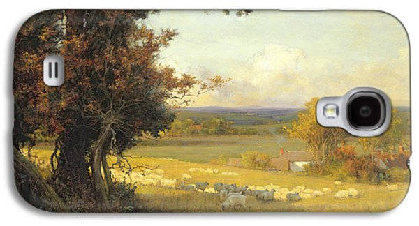 The Golden Valley Galaxy S4 Case by Sir Alfred East