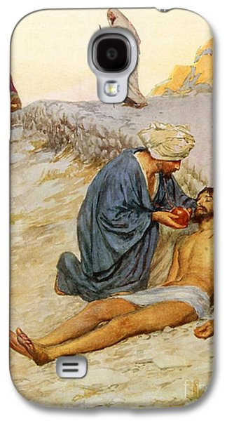 The Good Samaritan Galaxy S4 Case by William Henry Margetson