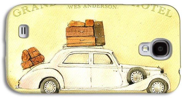 The Grand Budapest Hotel Watercolor Painting Galaxy S4 Case by Juan  Bosco