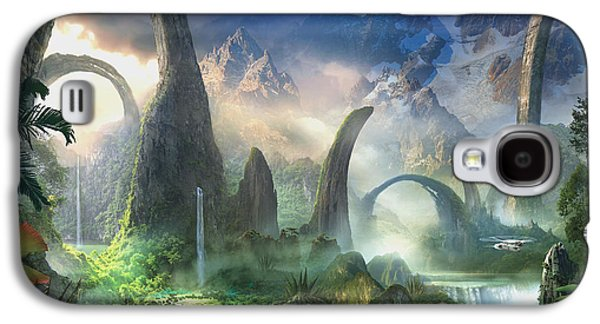 Surrealism Mixed Media Galaxy S4 Cases - The Great North Road Galaxy S4 Case by Philip Straub