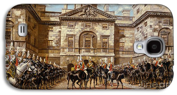 The Guard Mounting  The Horse Guards At Whitehall  Galaxy S4 Case by Harry Payne and Arthur Charles