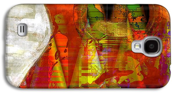 The Guitar Galaxy S4 Case by Contemporary Art