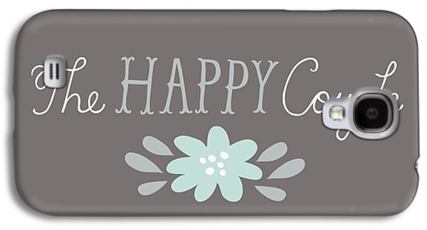 The Happy Couple Lettering With Flower Galaxy S4 Case