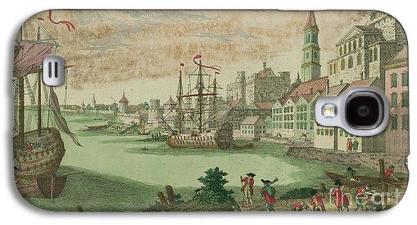 The Harbor In Boston, Massachusetts, 1770  Galaxy S4 Case